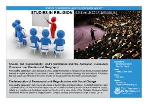 Religion seminar - 5 June 2015